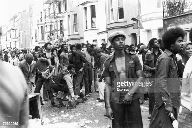 Scenes of unrest as a riot breaks out during the Notting Hill Carnival 30th August 1976