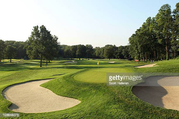 A scenic general view of the fifth green during the first round of The Barclays at the Ridgewood Country Club on August 26 2010 in Paramus New Jersey