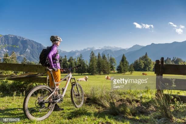 Scenic holiday biking in Salzkammergut, Austria