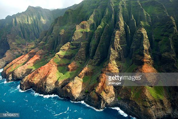 Scenic landscape of the Na Pali Coast of Kauai, Hawaii