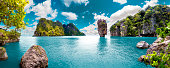 Scenery Thailand sea and island .Adventures and travel concept