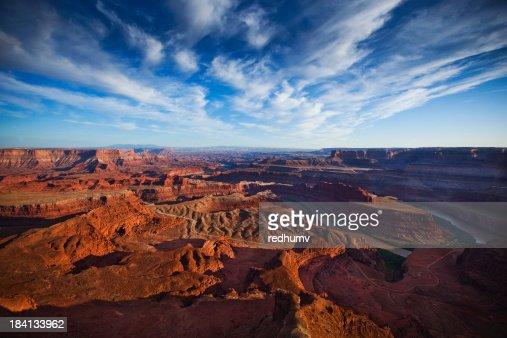 Scenic Panorama of Colorado River in Moab Utah