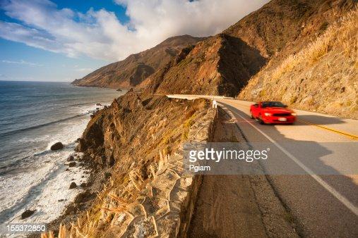 Scenic road on the Big Sur, Coastline and sea California