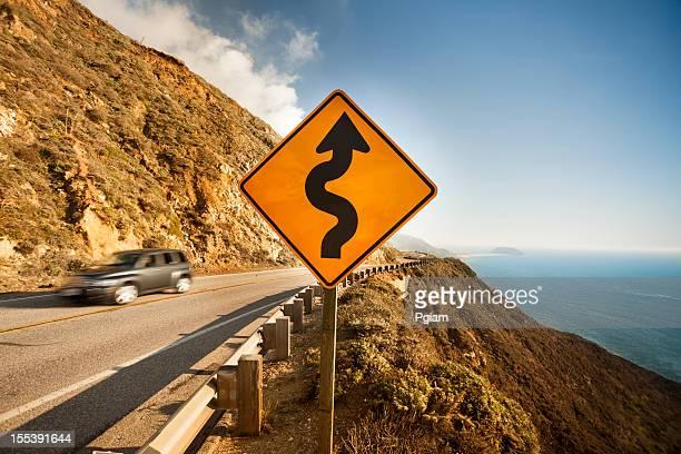 Scenic road on the Big Sur, Coastline and sea