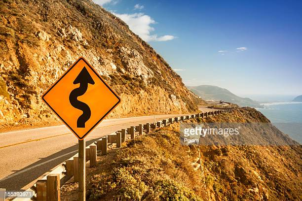 Scenic road on the Big Sur, Coastline and sea