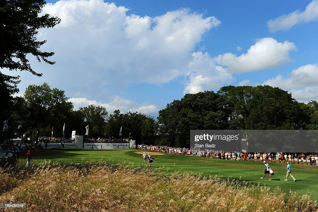 A scenic shot of the ninth hole during the first round of the BMW Championship at Conway Farms Golf Club on September 12, 2013 in Lake Forest, Illinois.