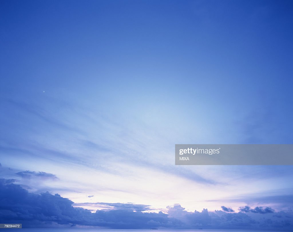 Scenic sky in Maldives : Stock Photo