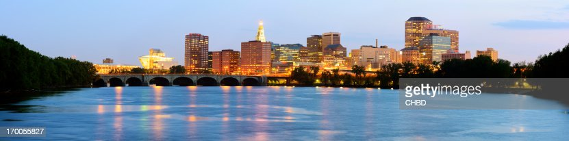 Scenic skyline view of Hartford, CT