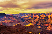 Scenic sunset at the Grand Canyon in Arizona