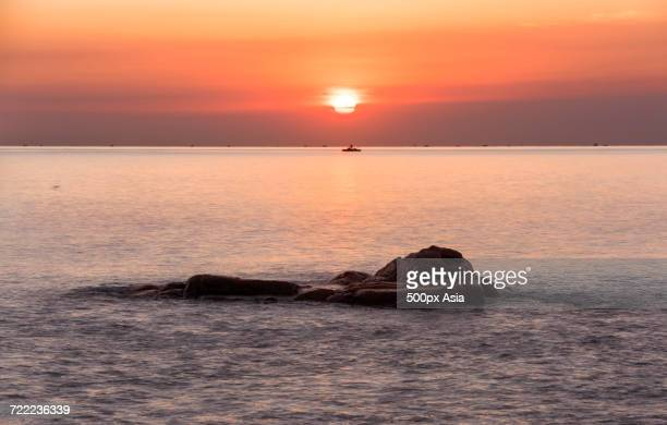 Scenic sunset over Yellow Sea