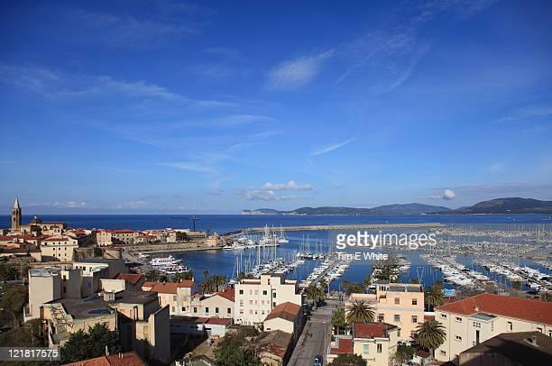 Scenic view of Alghero, Sardinia, Italy