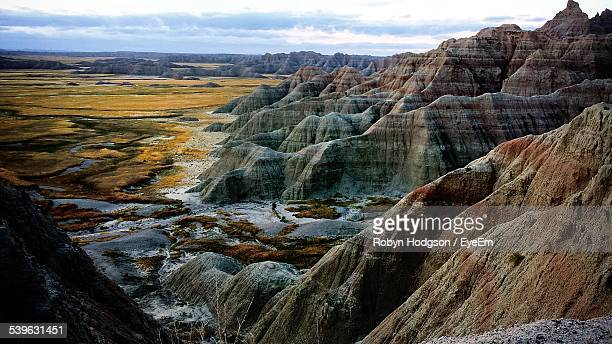 Scenic View Of Badlands National Park