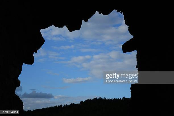 Scenic View Of Blue Sky Seen From Cave