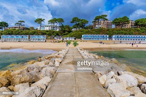 Scenic view of Bournemouth beach : Stock Photo
