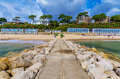 Scenic view of Bournemouth beach in England