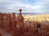 Scenic View Of Bryce Canyon Against Cloudy Sky
