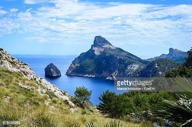 Scenic View Of Cabo Formentor By Sea Against Sky