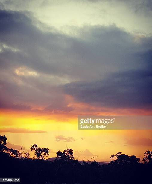 Scenic View Of Cloudy Sky At Sunset