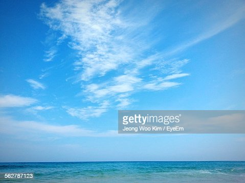 Scenic View Of Cloudy Sky Over Sea