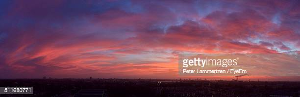 Scenic view of dramatic sky at dusk