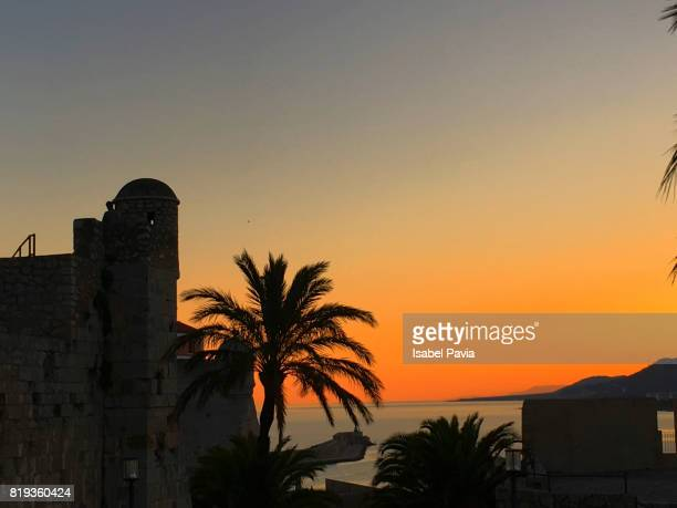 Scenic View Of Dramatic Sky During Sunset, Peniscola, Spain