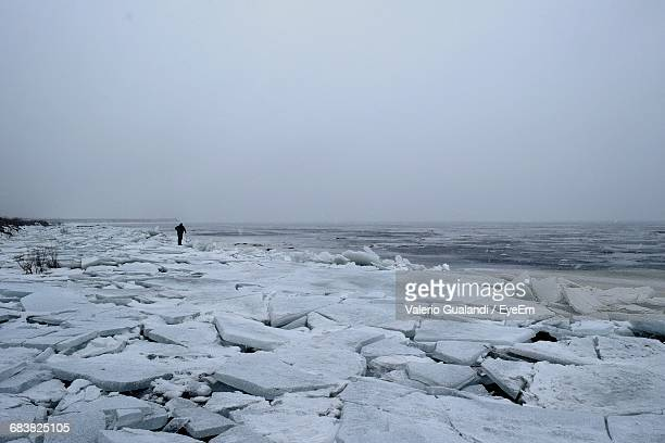 Scenic View Of Frozen Gulf Of Finland