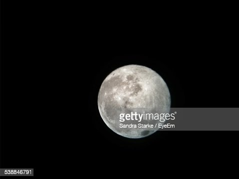 Scenic View Of Full Moon In Sky At Night