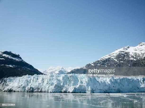 Scenic view of glacier bay
