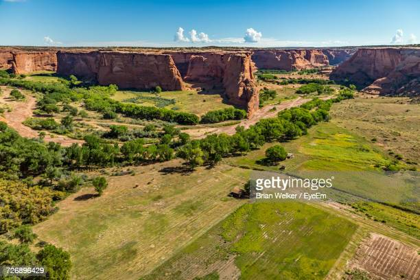 Scenic View Of Green Landscape At Canyon De Chelly National Monument