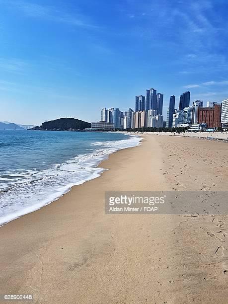 Scenic view of Haeundae Beach, Korea