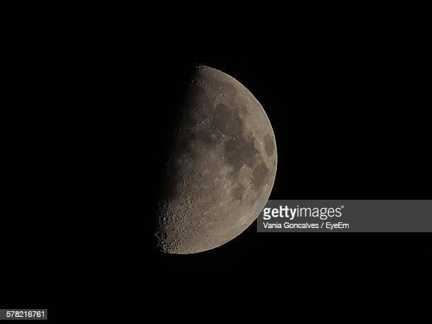 Scenic View Of Half Moon On Sky At Night