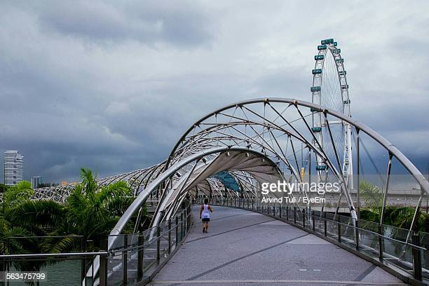 Scenic View Of Helix Bridge Against Sky