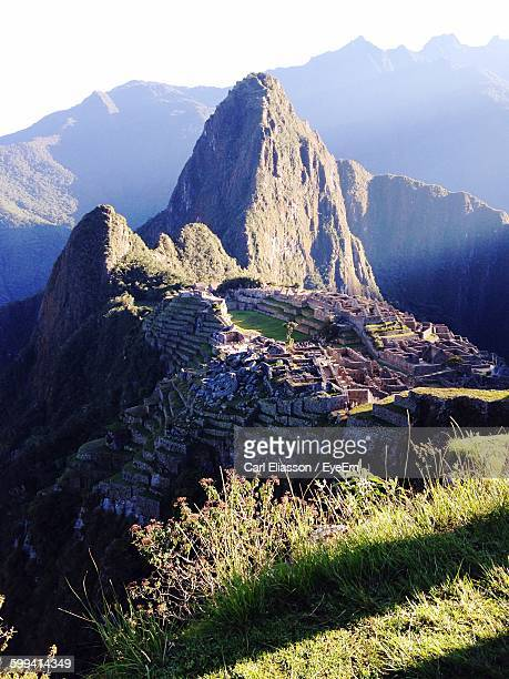 Scenic View Of Historic Machu Picchu Against Mountain Range