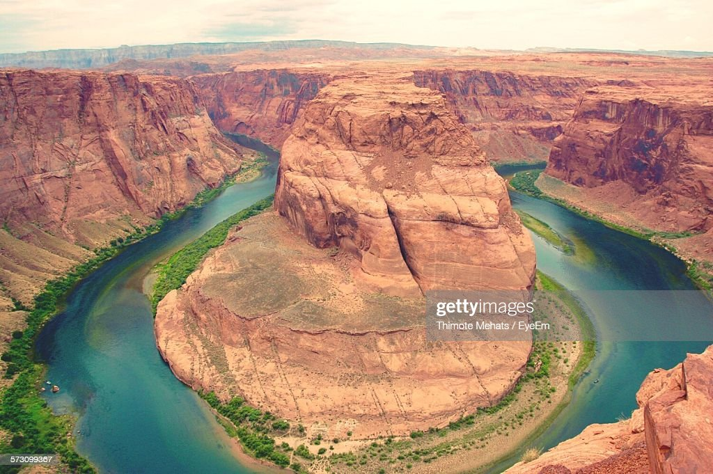 Scenic View Of Horseshoe Bend