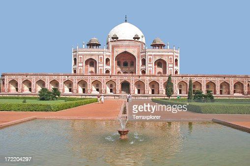 Scenic view of Humayuns Tomb in Delhi, India