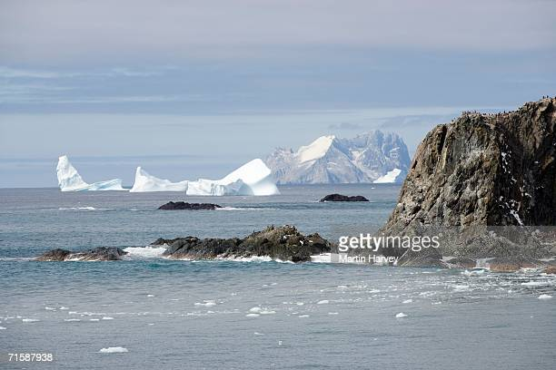 Scenic View of Island and Glaciers