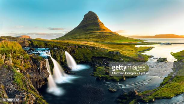 Scenic View Of Kirkjufell Mountain Against Sky
