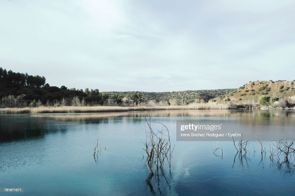 Scenic View Of Lake Against Sky : Photo