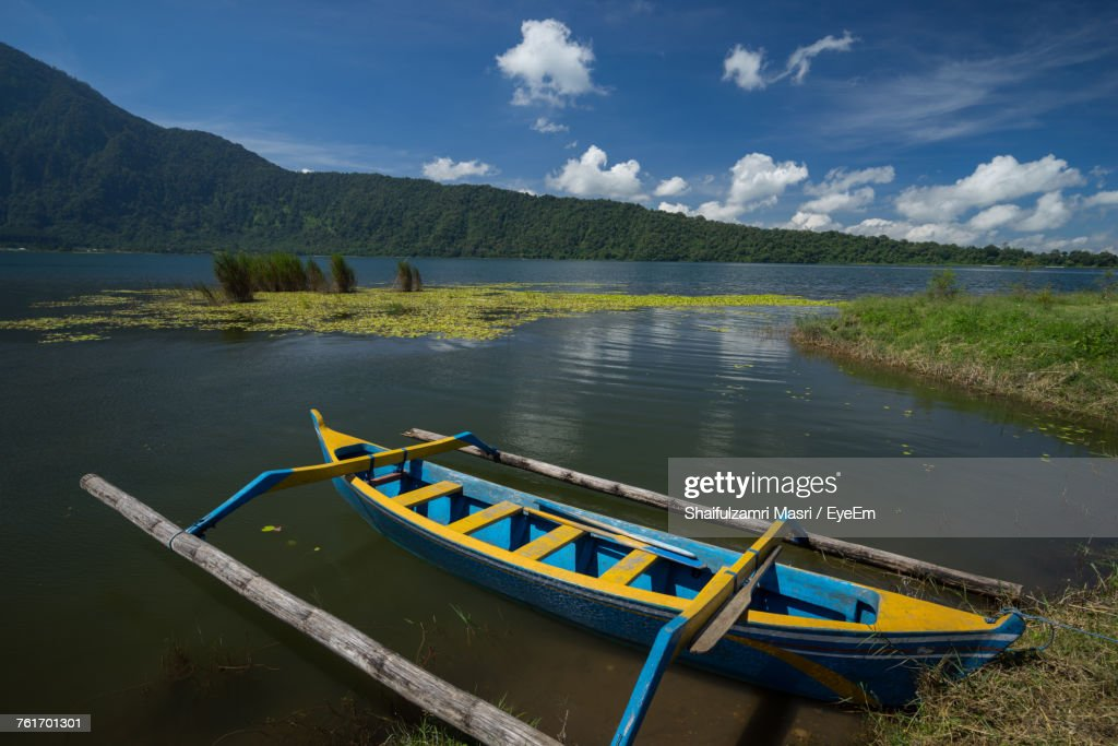 Scenic View Of Lake Against Sky : Stock Photo
