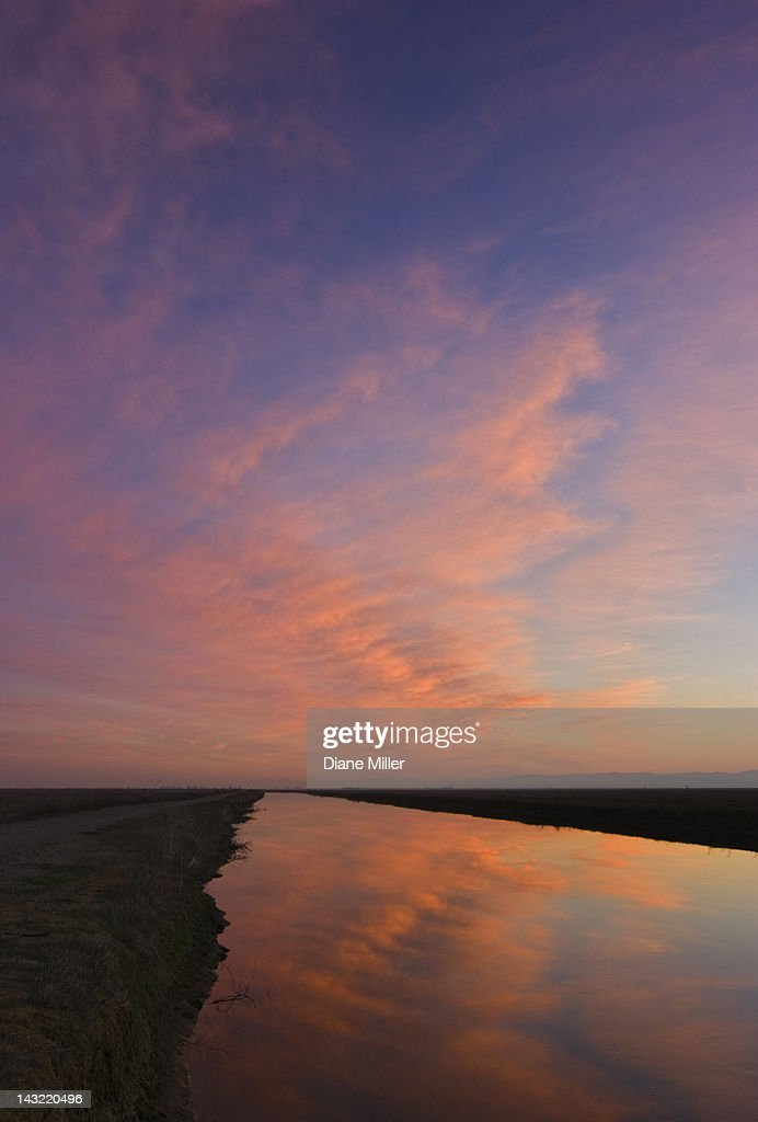 Scenic view of lake and sky, Sacramento Valley, California