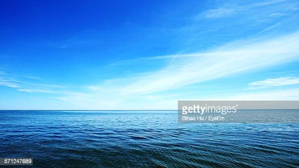Scenic View Of Lake Ontario Against Blue Sky