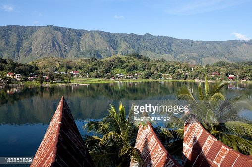 Scenic view of lake toba samosir in Sumatra, Indonesia