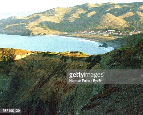 Scenic View Of Mountains By Sea