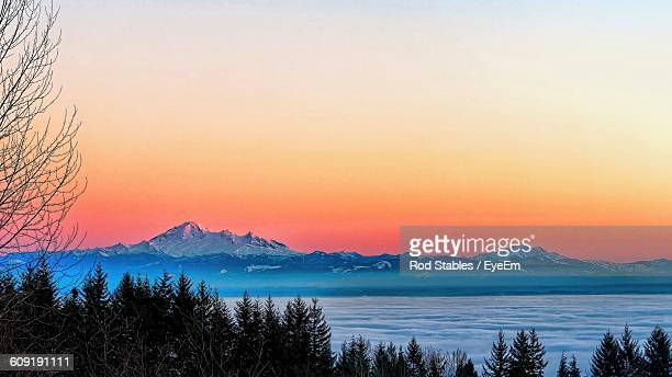 Scenic View Of Mt Baker Against Sky During Sunset