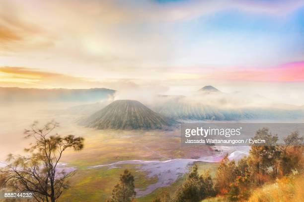 Scenic View Of Mt Bromo Against Cloudy Sky