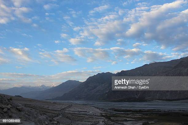 Scenic View Of Nubra Valley Against Sky