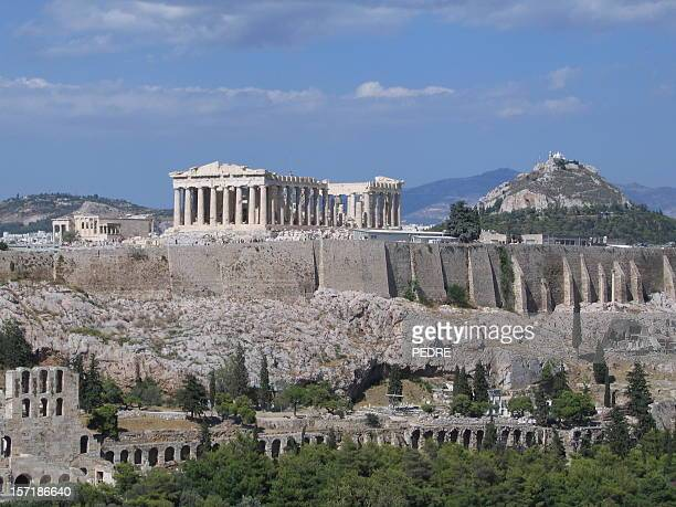Scenic view of old buildings in Acropolis