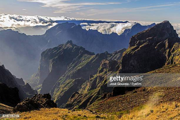 Scenic View Of Pico Do Arieiro Madeira Against Sky