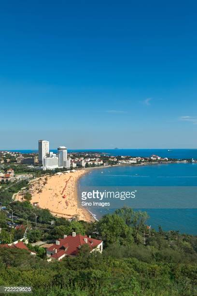 Scenic view of Qingdao beach, Qingdao, Shandong, China