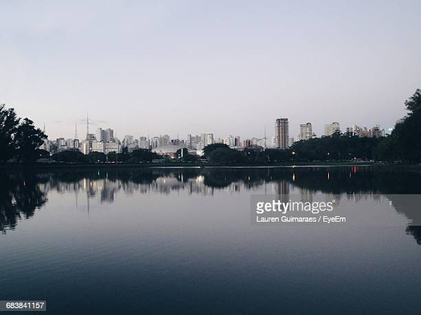 Scenic View Of River And Skyline Against Sky